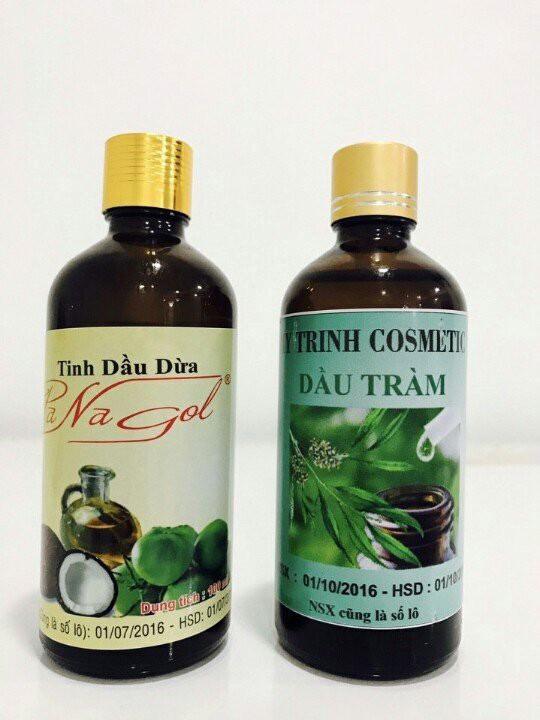 Tinh dầu tràm và dầu dừa trị nám da