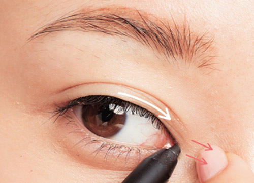 Viền mi mở tròng sẽ giúp đôi mắt trở lên to hơn